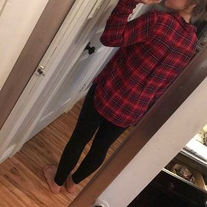 aerie Tops - Aerie half button flannel